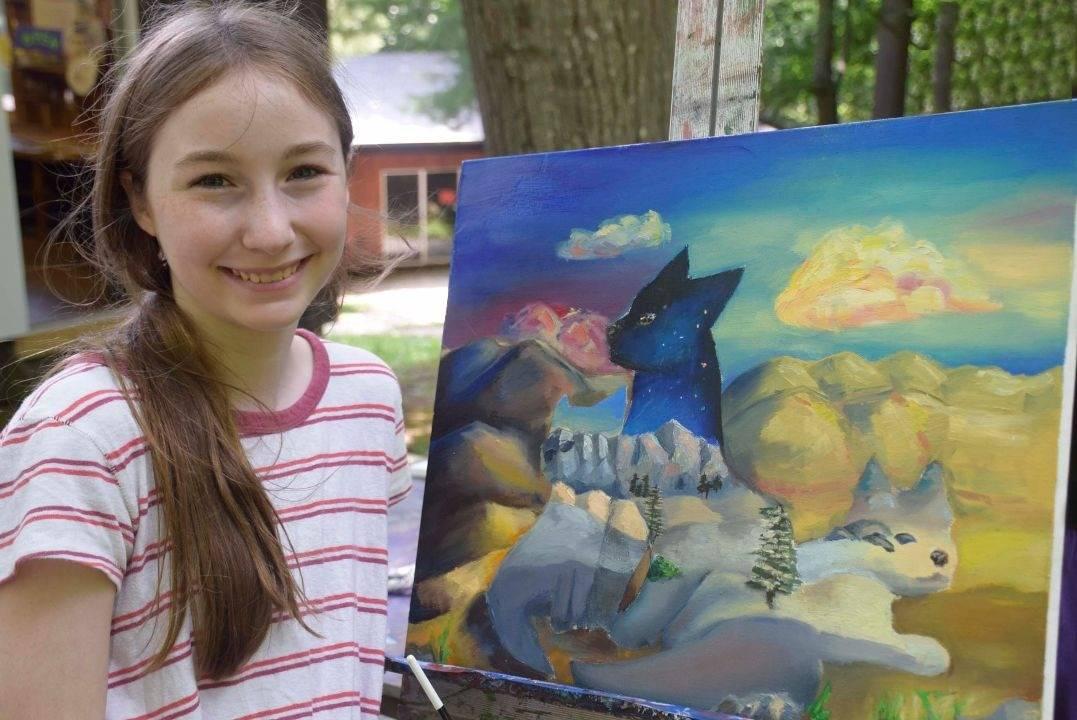 Art Camp For Girls - Belvoir Terrace Painting